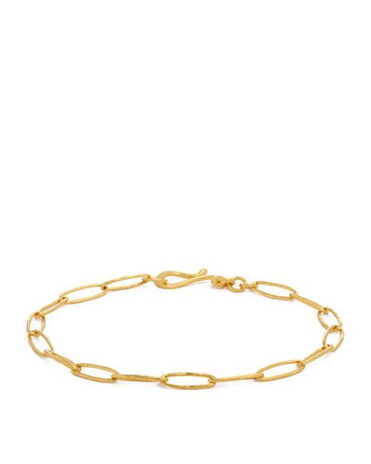 Annoushka Metallic Yellow Gold Organza Charm Bracelet