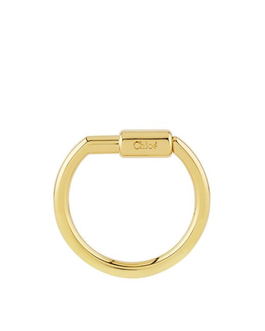 Chloé | Metallic Chlo Alphabet Charm Hook For Faye Bag, Gold | Lyst