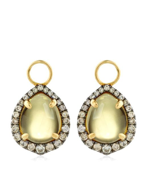 Annoushka | Yellow Olive Quartz Earring Drops | Lyst