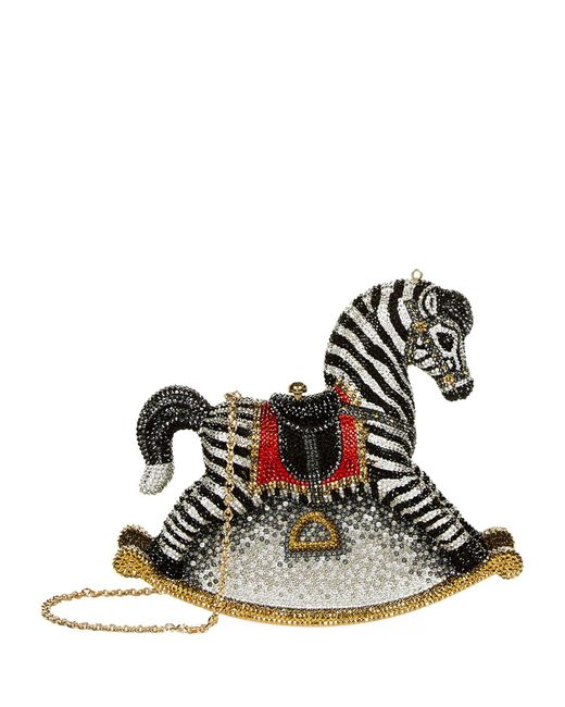 Judith Leiber   Multicolor Zebra Rocking Horse Clutch   Lyst