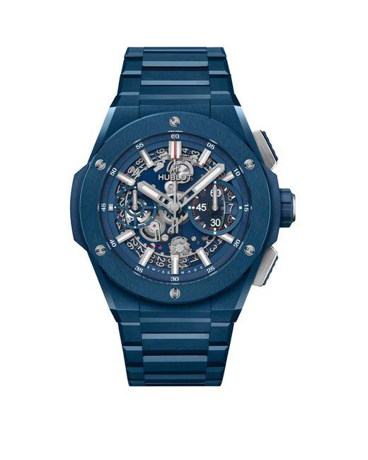 Hublot Blue Ceramic Big Bang Integral Watch 42mm