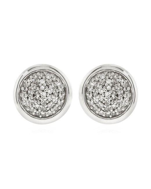 Links of London | Metallic Diamond Essentials Pave Round Stud Earrings | Lyst