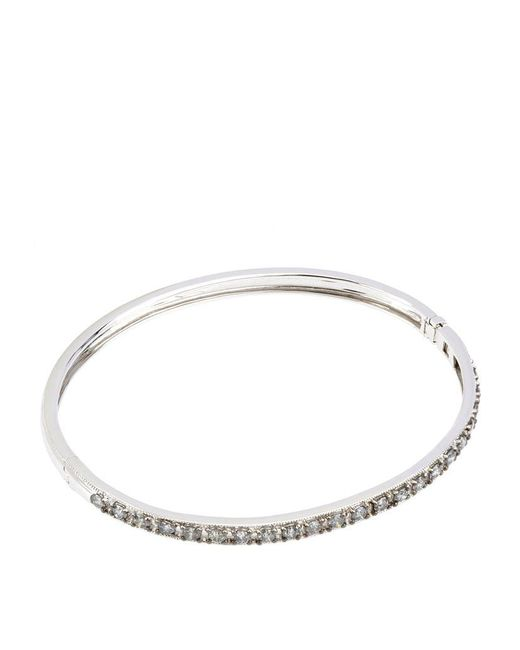 Annoushka | Metallic White Gold Dusty Diamonds Bangle | Lyst