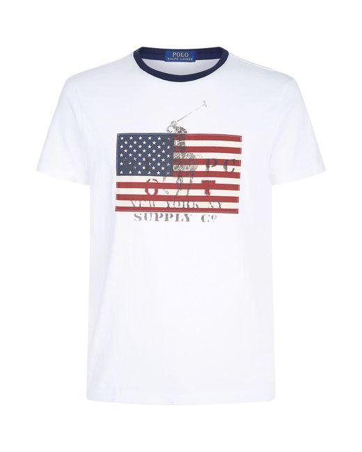 Polo Ralph Lauren - White Flag T-shirt for Men - Lyst