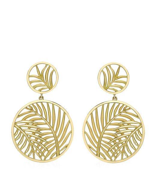 Theo Fennell   Metallic Palm Diamond Double Disc Earrings   Lyst