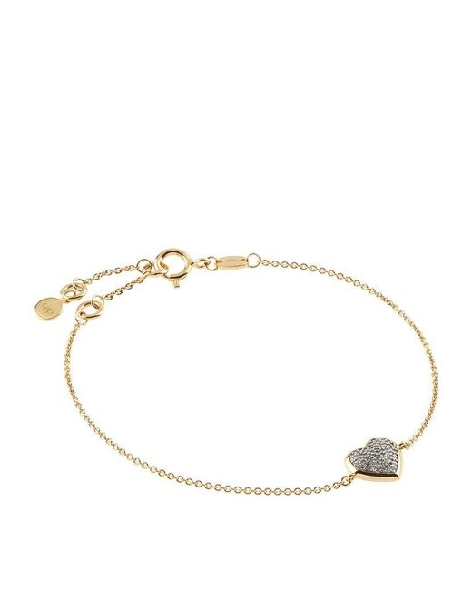 Links of London | Metallic Diamond Essentials Pavé Diamond Heart Bracelet | Lyst