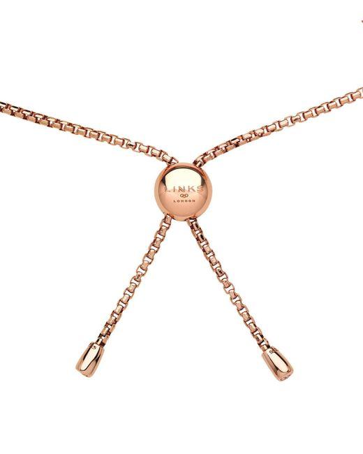 Links of London - Metallic Rose Gold Coronet Bracelet - Lyst