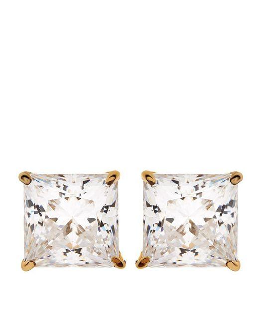 Carat*   Metallic Elegant Princess Stud Earrings   Lyst