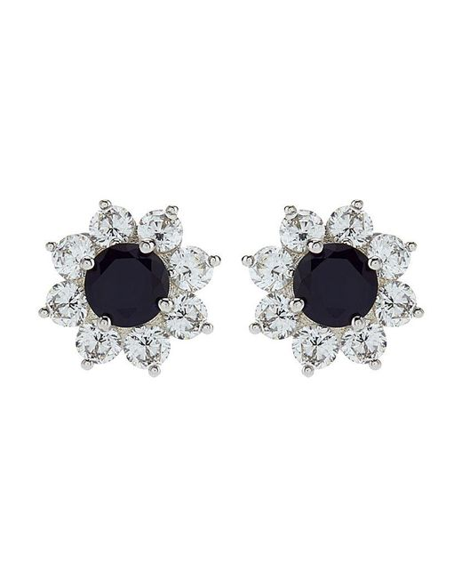 Carat* | Blue Fancy Round Stud Earrings | Lyst
