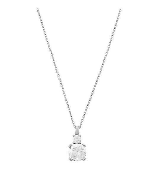 Carat* | Metallic 3ct Drop Diamond Necklace | Lyst