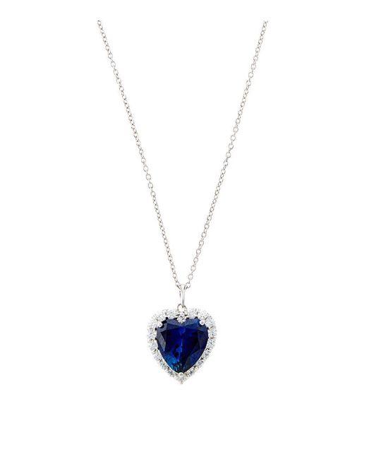Carat* | Blue 4.5ct Sapphire Heart Necklace | Lyst