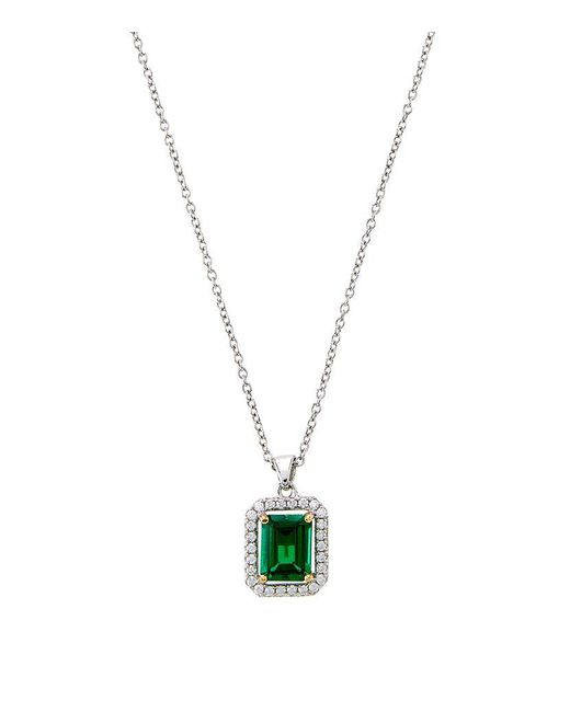 Carat* | Green 1.5ct Emerald Border Necklace | Lyst
