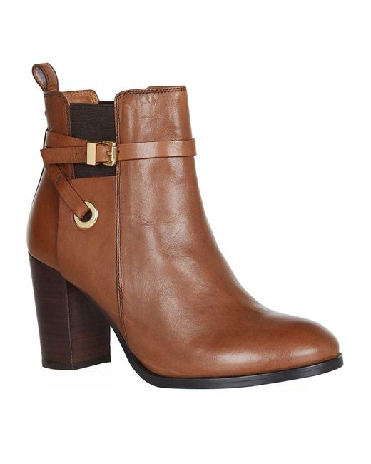 Carvela Kurt Geiger | Brown Stacey Leather Ankle Boots | Lyst