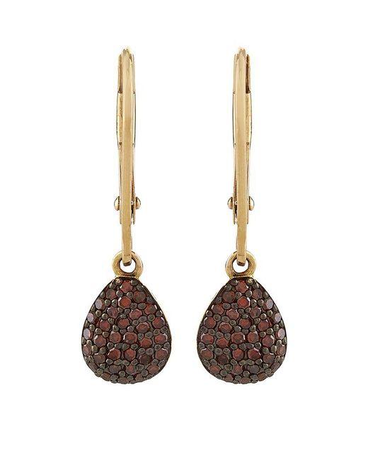 Links of London | Brown Hope Cognac Diamond Drop Earrings | Lyst