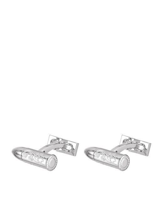 S.t. Dupont - White Palladium Finish Bullet Cufflinks for Men - Lyst