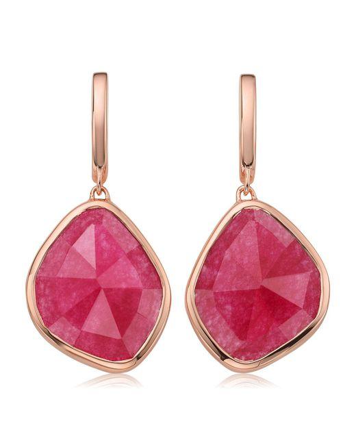Monica Vinader - Metallic Siren Large Nugget Rose Quartz Earrings - Lyst