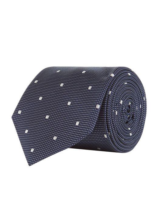 BOSS - Blue Polka Dot Tie for Men - Lyst