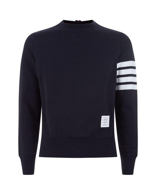 Thom Browne | Blue Engineered Striped Sweatshirt for Men | Lyst