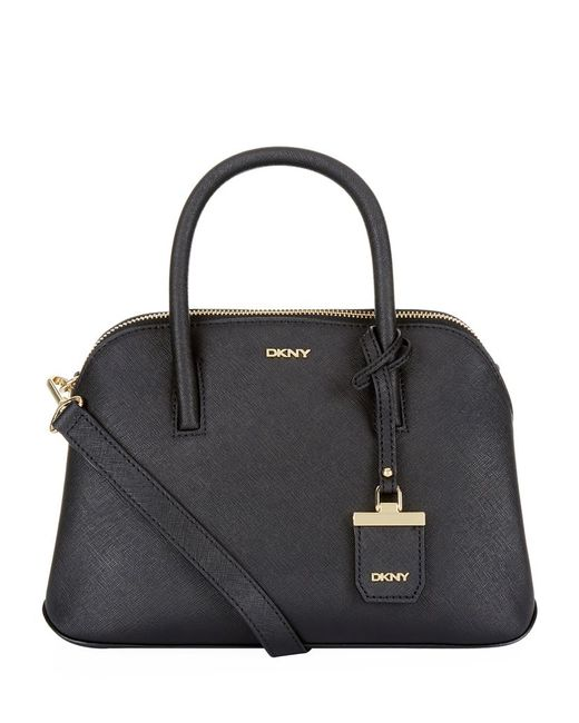 DKNY   Black Quilted Leather Messenger Bag   Lyst