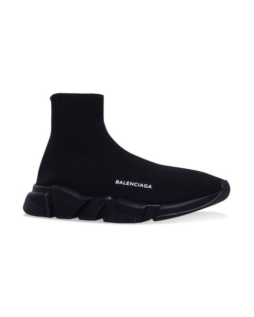 Balenciaga Black Speed Mid-top Sneakers for men