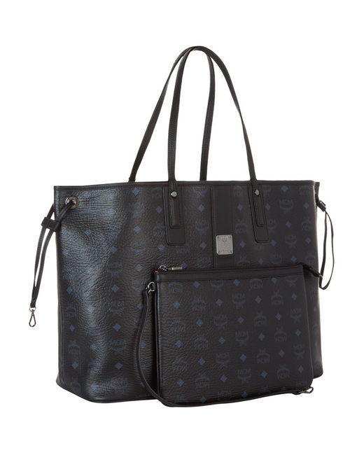 mcm liz reversible medium shopper tote bag in black save. Black Bedroom Furniture Sets. Home Design Ideas