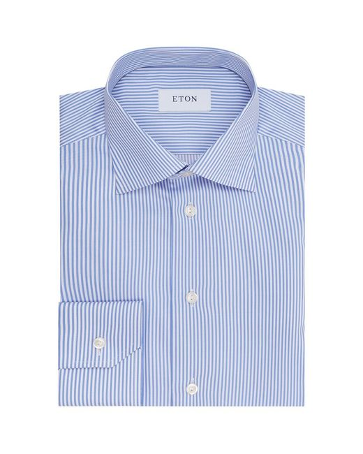 Eton of Sweden | Blue Slim Fit Pinstriped Shirt for Men | Lyst