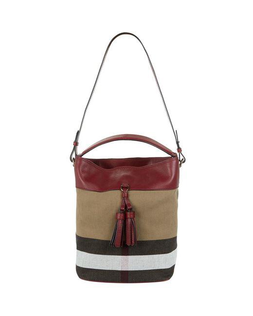 Burberry Medium Ashby Check Tassel Bag in Brown  8d14b3939d69e