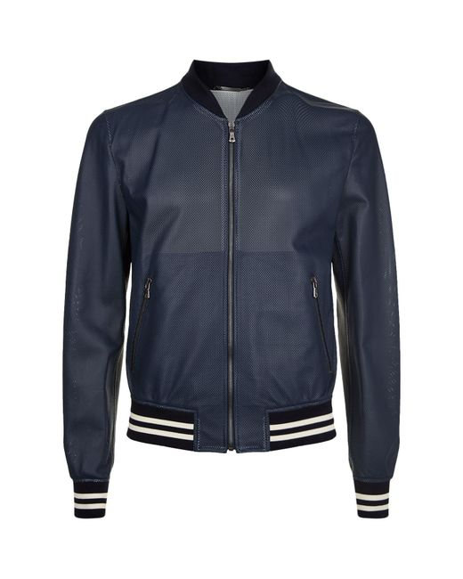 Dolce & Gabbana | Blue Mesh Blouson Jacket for Men | Lyst