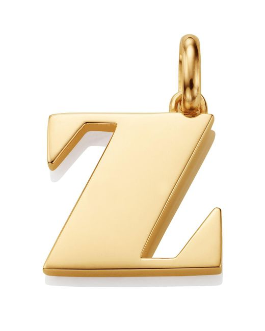 Monica Vinader - Metallic Gold Capital Z Pendant - Lyst