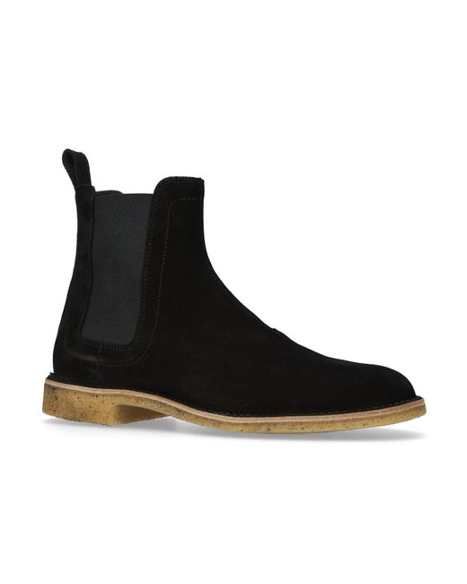 Bottega Veneta | Black Suede Desert Boots for Men | Lyst