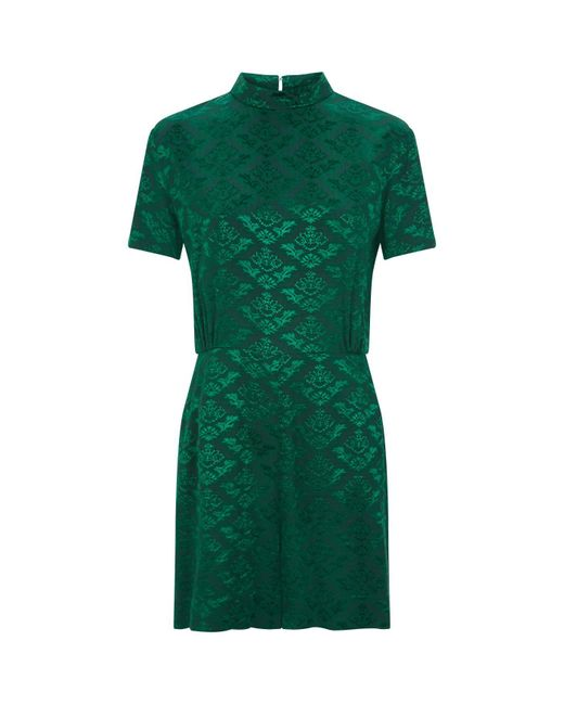 Sandro - Green Baroque Playsuit - Lyst