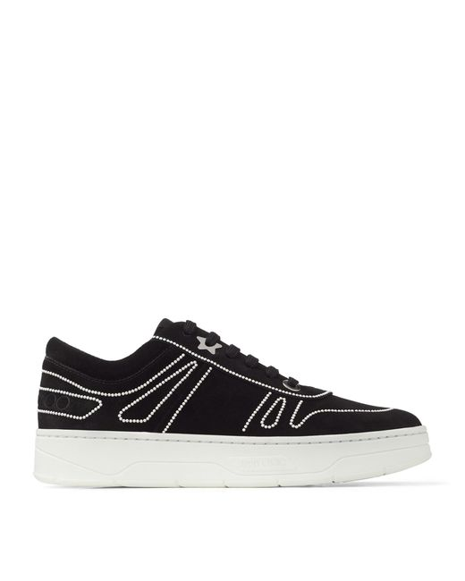 Jimmy Choo Black Hawaii Suede Sneakers