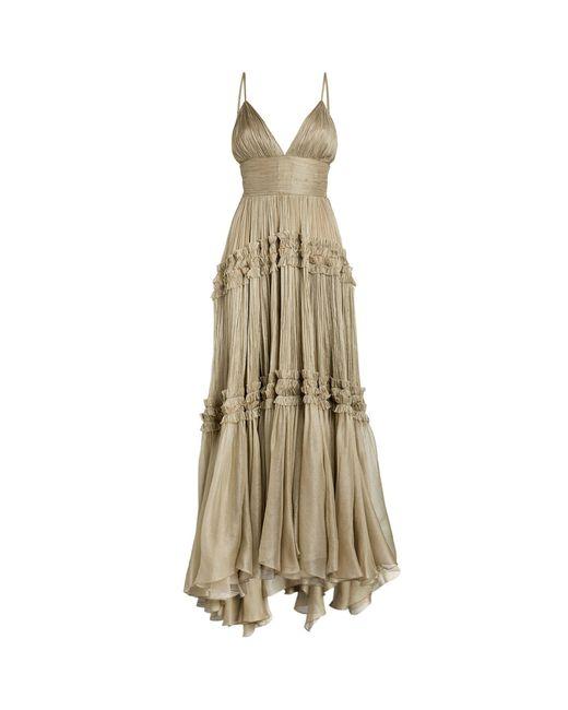 Maria Lucia Hohan Gray Eris V-neck Gown