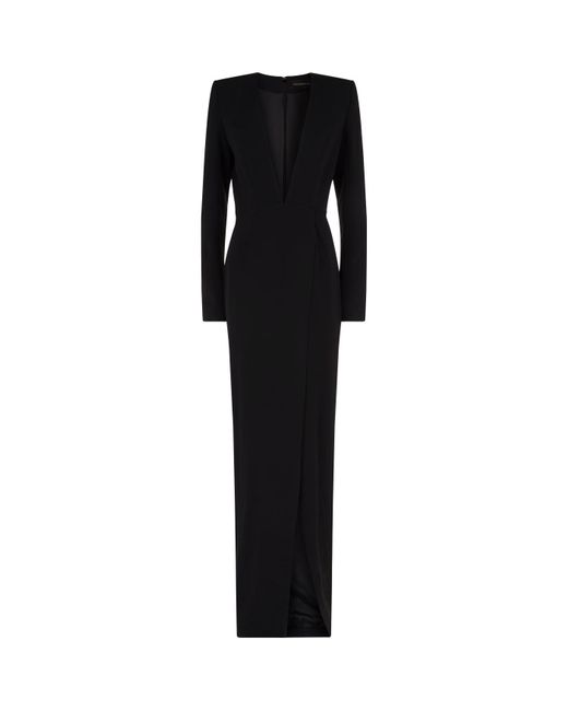 Alexandre Vauthier - Black Split Hem Gown - Lyst