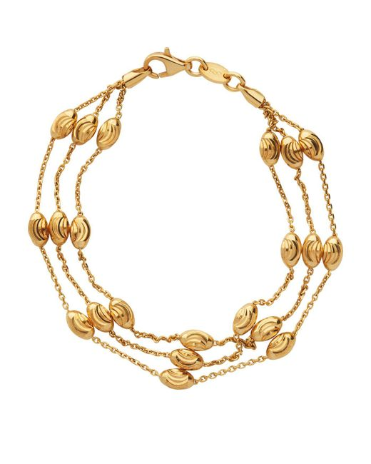 Links of London | Metallic Essentials Beaded 3 Row Bracelet | Lyst