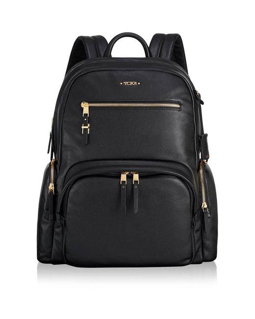 Tumi Black Leather Backpack