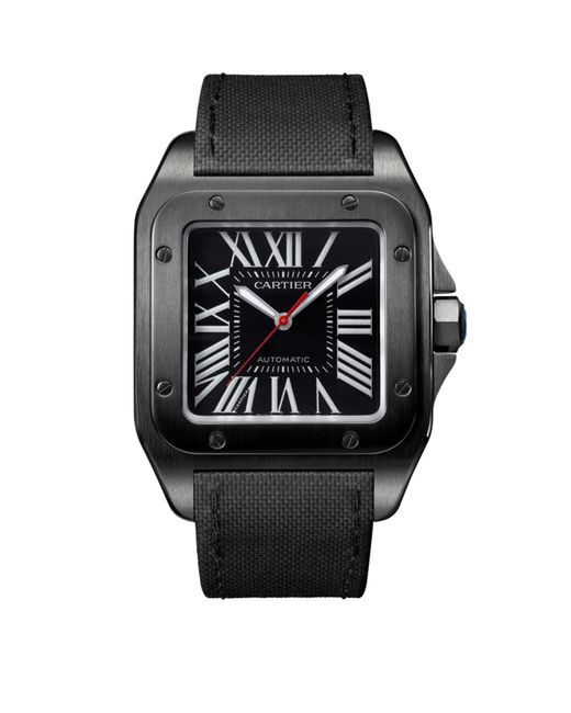 Cartier - Gray Large Adlc Coated Steel Santos 100 Automatic Watch 41mm - Lyst