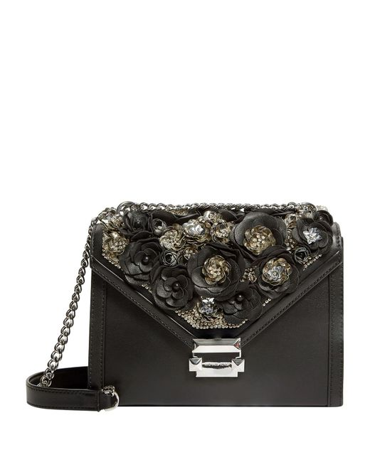 Lyst - MICHAEL Michael Kors Large Leather Whitney Shoulder Bag in Black 232848504e232