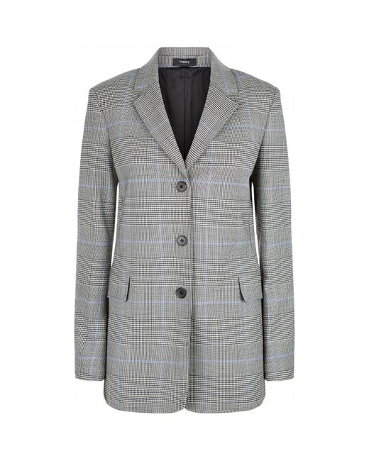 Theory - Gray Prince Of Wales Check Jacket - Lyst