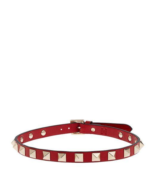 Valentino - Red Rockstud Choker - Lyst