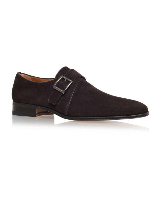 Stemar - Brown Single Buckle Monk Shoe for Men - Lyst