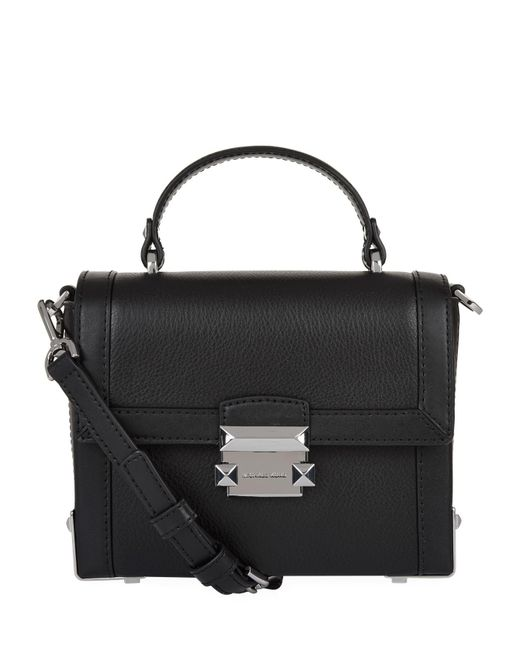 MICHAEL Michael Kors - Black Small Leather Jayne Box Bag - Lyst