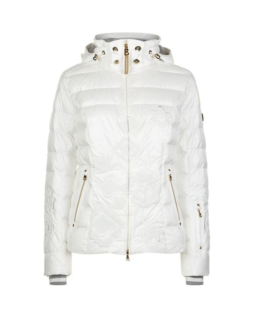 Lyst - Bogner Cyra Embroidered Down Jacket In White - Save 1%