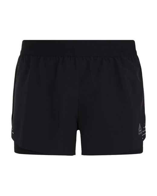 Reebok - Black 2-in-1 Epic Perforated Shorts - Lyst
