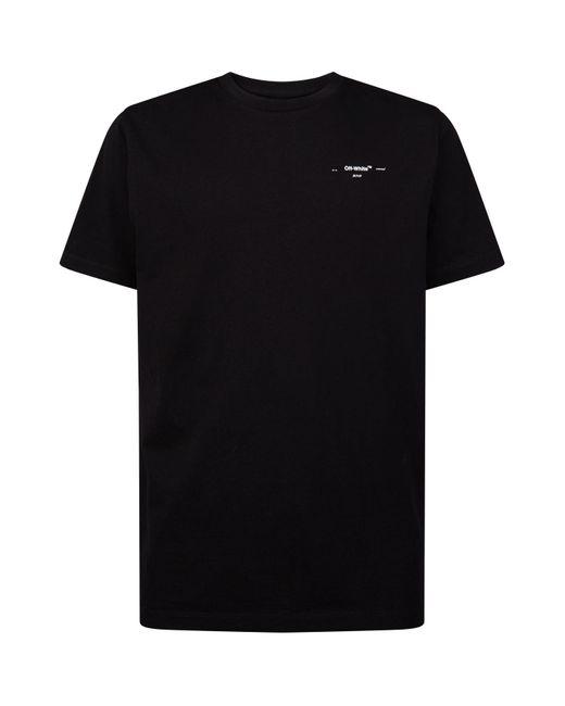 Off-White c/o Virgil Abloh Black Logo Print T-shirt for men