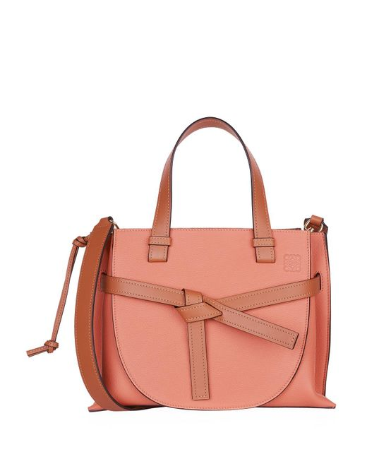 Loewe Pink Small Leather Gate Top Handle Bag