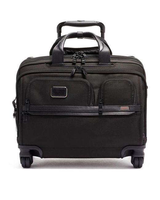 Tumi Black Deluxe Wheeled Laptop Case for men