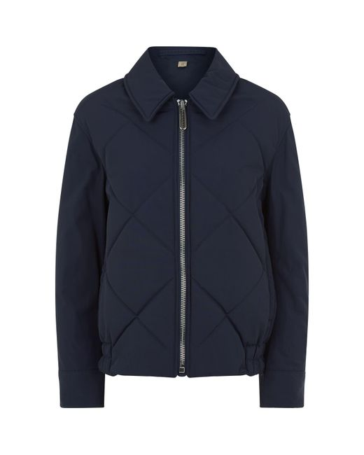 Burberry - Blue Quilted Jacket - Lyst