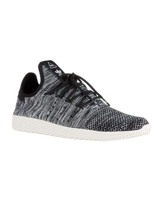 Adidas Originals - White Pharrell Williams Tennis Hu Primeknit Shoes for Men - Lyst