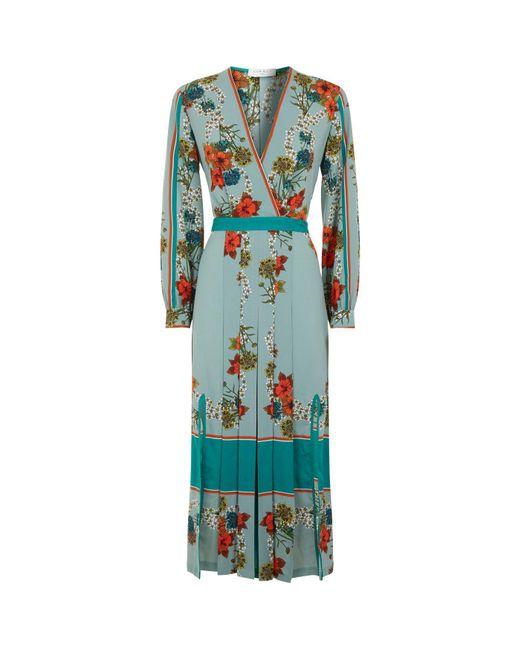 Sandro - Green Floral Kimono Dress - Lyst